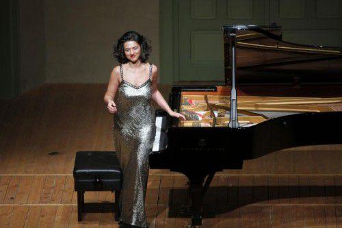 Khatia Buniatishvili in Hohenems.  Foto: Schubertiade