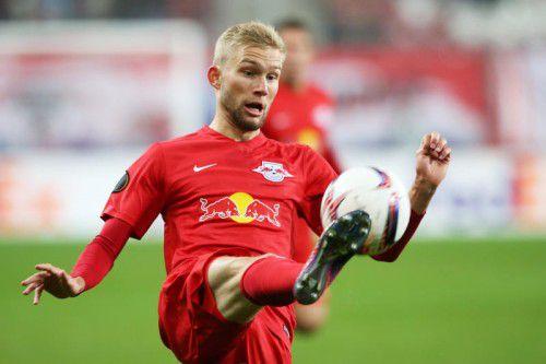 Konrad Laimer schnürt weiter die Kickschuhe für Salzburg. Foto: gepa
