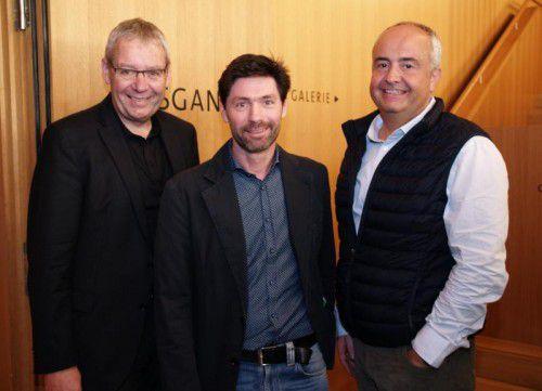 Landesstatthalter Karlheinz Rüdisser (l.), Organisator Arno Riedmann und Manfred Böhmwalder. Fotos: sie