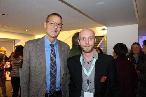 LR Christian Bernhard (l.) tauschte sich mit dem Obmann des Vereins Wundmanagement, Peter Jäger, aus.  Foto: he