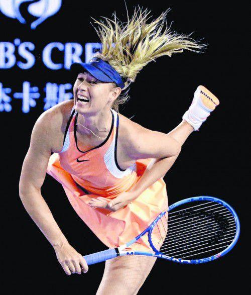 Maria Scharapowa kann 2017 auf den Tenniscourt zurückkehren. Foto: ap