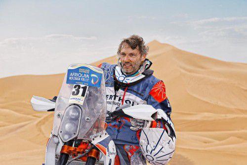 Markus Berthold nahm schon an Rallyes in Griechenland und Afrika teil. Nun startet er bei der Rallye Dakar in Südamerika.