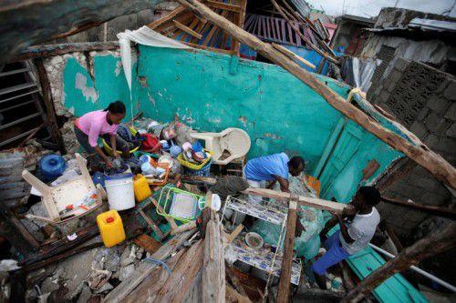 """""""Matthew"""" hat auf Haiti Tausende Häuser zerstört. Zudem droht der Ausbruch von Krankheiten durch verschmutztes Wasser. Foto: Reuters"""