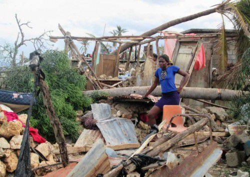 """""""Matthew"""" hat in Haiti ganze Landstriche verwüstet. Nun zieht der Sturm entlang der US-Küste nordwärts. AFP"""