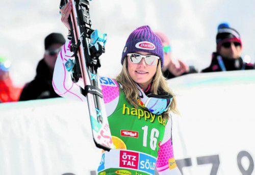 Mikaela Shiffrin: Der Fokus liegt auf RTL und Slalom. Foto: gepa