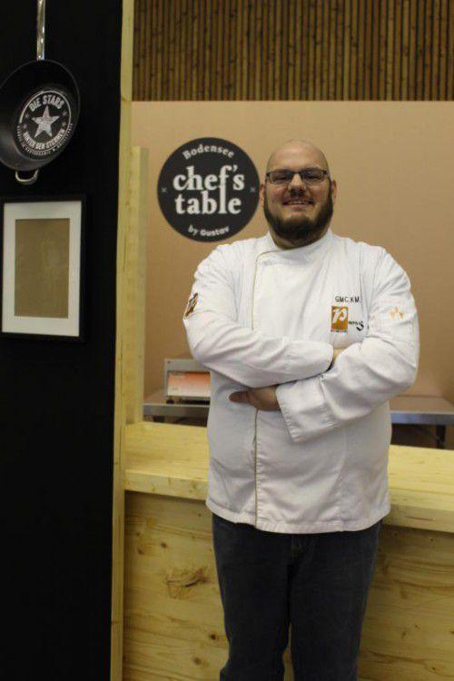 Mike Pansi organisiert heuer den Chef's Table auf der Gustav in Dornbirn und setzt das altbekannte Konzept neu um. Foto: VN/Nussbaum