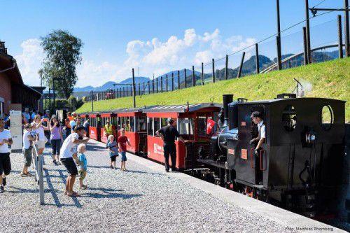 Mit der Dampflokomotive geht es zur Rheinmündung. foto: museum Rhein-schauen