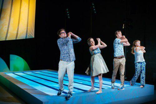 """Mit """"Jeunesse dorée"""" von Johannes Hoffmann startet das Theater Kosmos in die Herbstsaison. Foto: Mathis"""