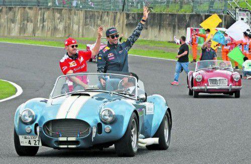 Musste zu Daniel Riccardo umsteigen: Sebastian Vettel. Foto: ap