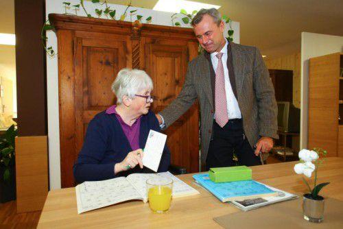 Norbert Hofer (FPÖ) war in Nenzing zu Gast. Foto: VN/Hofmeister