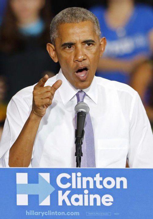 Obama unterstützt die Demokratin Hillary Clinton. Foto: AFP