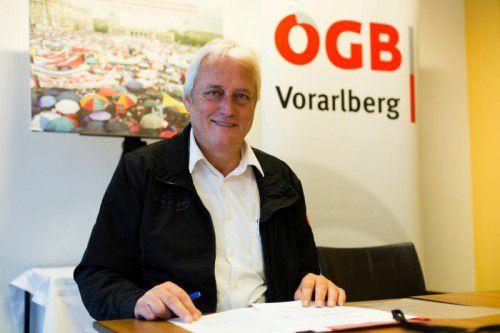 ÖGB-Boss Loacker hadert mit Wirtschaftsminister.  VN/Paulitsch