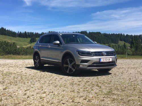 Optisch und technisch gereift: die Neuauflage des VW Tiguan im VN-Test mit 150 PS Dieselmotor und Allradantrieb. Fotos: VN/Gasser