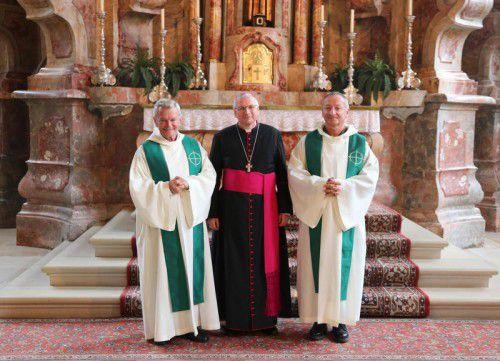 Otto Krepper, Militärbischof Werner Freistetter und Alois Erhart.