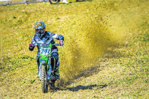 Philip Rüf machte beim Finale in Kirchschlag Tempo und verbesserte sich in der Gesamtwertung auf den siebten Rang.  Foto: pr