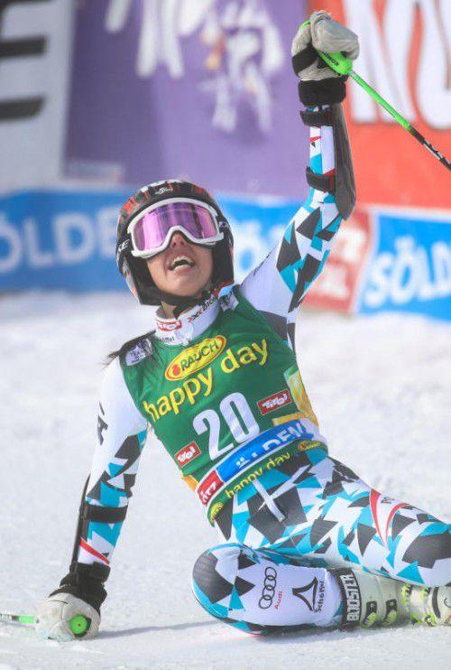 Platz vier, bestes Resultat im Weltcup: Stephanie Brunner.  gepa