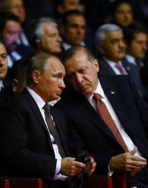 Putin und Erdogan führen heute intensive Gespräche.  Foto:afp