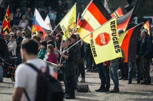 Rund 5000 Menschen nahmen an der Kundgebung teil. AFP