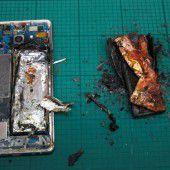 Wieder Brände bei Samsung Galaxy Note 7