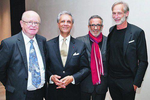 Schauspieler Mario Plaz (l.) mit Musiker Bijan Khadem-Missagh sowie Organisator Wafa Reyhani und Architekt Micheal Ohneberg. Fotos:SIE