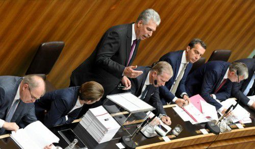 Schelling hielt seine zweite Budgetrede im Nationalrat. Foto: APA