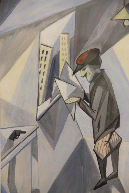 Sepp Mahler ist mit fein aquarellierten Federzeichnungen, aber auch mit kraftvollen Setzungen vertreten. Fotos: ag