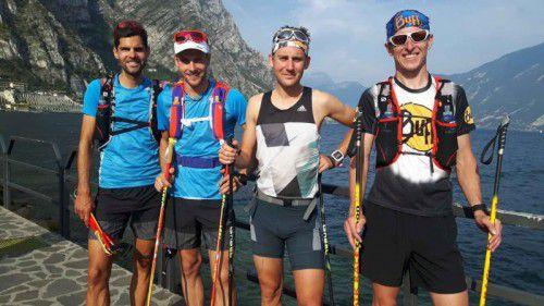 Skibergsteiger Daniel Zugg beim Training in Riva del Garda. gruber
