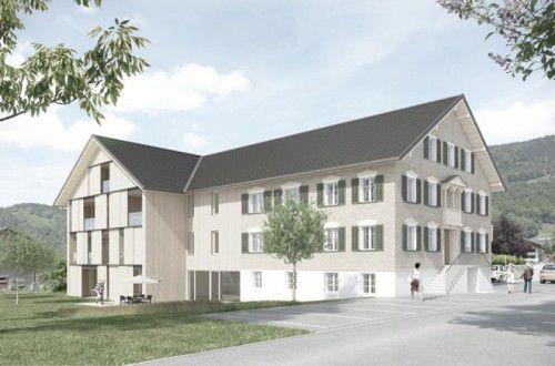 So wird das Gebäude nach der Fertigstellung aussehen.