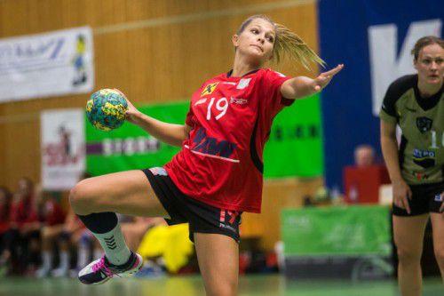 SSV Dornbirn-Schoren-Spielführerin Anna Moosbrugger hat das Visier für den EHF-Cup-Hit gegen CS Madeira scharfgestellt. Foto: gepa