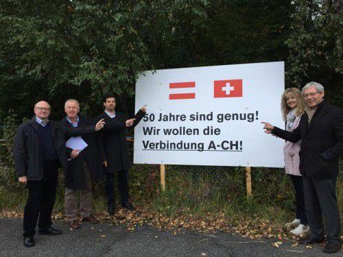 Statement für eine Verbindungsstraße zwischen der österreichischen und der Schweizer Autobahn. Foto: VN/hk