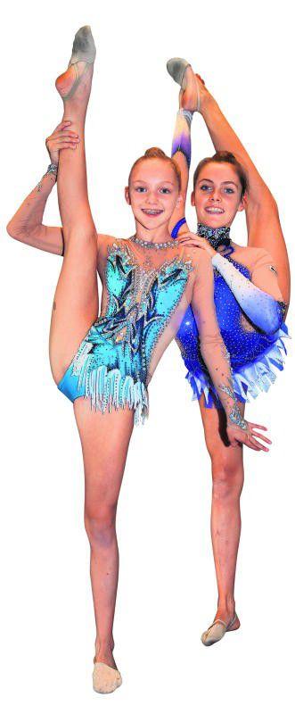 Teresa (l.) und Klara Welzig beeindruckten mit ihrer Vorführung.