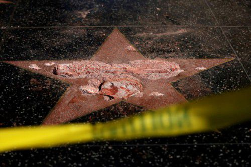 Trumps Stern wurde schwer beschädigt. Foto: Reuters