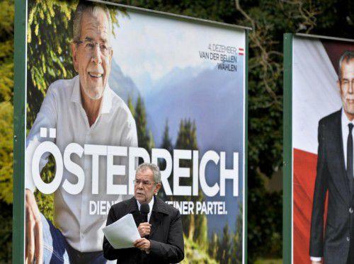 """Van der Bellen: """"Österreich. Nein zum Öxit. Gemeinsam."""" APA"""