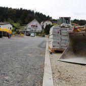 Kanalbau in Göfis läuft weiter auf Hochtouren