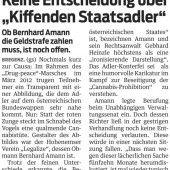 Bernhard Amann klagt die Republik auf Schadenersatz
