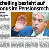 Bonus im Pensionsrecht