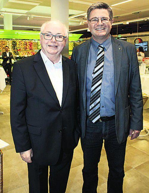 Vogewosi-Aufsichtsratvorsitzender Wolfgang Rümmele (l.) mit Wolfgang Kaufmann.