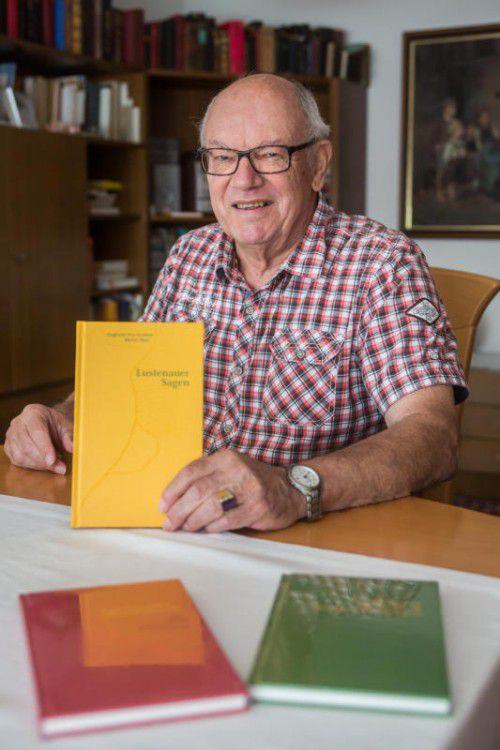 Walter Baur ist Koautor des Lustenauer Sagenbuchs, das am Sonntag auf der Kilbi vorgestellt wird.  Foto: VN/Steurer