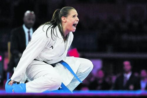 Weltmeisterin Alisa Buchinger (Kumite bis 68 kg) wurde vom Weltkarateverband bei der WM in Linz mit dem MVP-Award ausgezeichnet.  gepa