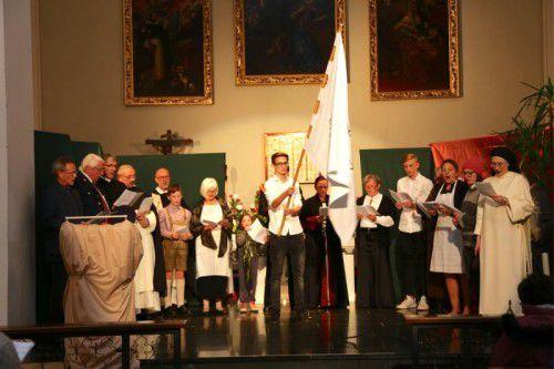 Zum 800-jährigen Ordensjubiläum kam im Kloster Altenstadt ein Theaterstück zur Aufführung. Foto: koe