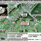 Tunnelbauer in Wartestellung