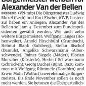 Bürgermeister werben für Van der Bellen