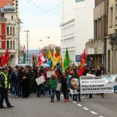 110 Kurden bei Demo in Bregenz