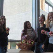 Ebenfalls neu in Marienberg: Apfelaktion