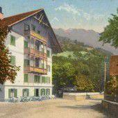 vorarlberg einst und jetzt. Hotel Taube in Schruns