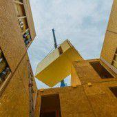 Holzmodulwohnungen aufgebaut
