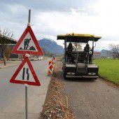 Am Radweg in Rankweil wird weiter gebaut