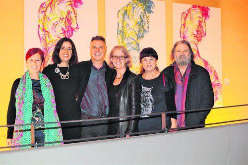 Birgit Zudrell, Astrid Seidl, Künstler Gerd Menia, Vernissagerednerin Dagmar Ullmann-Bautz, Musikerin Ingrid Huberti und Werner. ame
