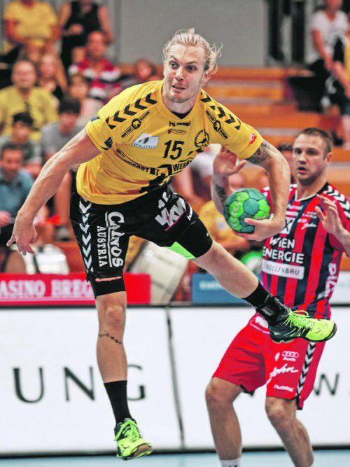 Bregenz-Teamspieler Marian Klopcic muss wegen eines Muskelfaserrisses im Oberschenkel gegen die Fivers passen. Foto: gepa