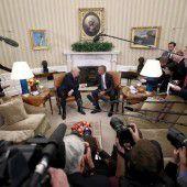 Obama trifft Trump im Weißen Haus